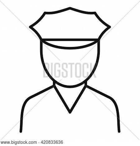 Security Service Guard Icon. Outline Security Service Guard Vector Icon For Web Design Isolated On W