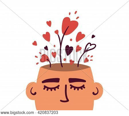 Growing Love, Positive Mind, Well Mental Health. Wellbeing, Wellness Mindset. Cultivating Love In On