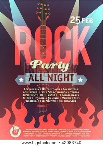 Rock party poster