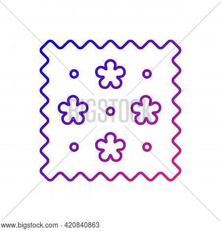 Abstract Print Pattern On Fabric Gradient Linear Vector Icon. Cute Tracery Material Property. Specia