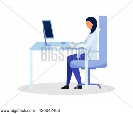 Doctor Office Flat Color Vector Faceless Character. General Practitioner. Place For Patients Receivi