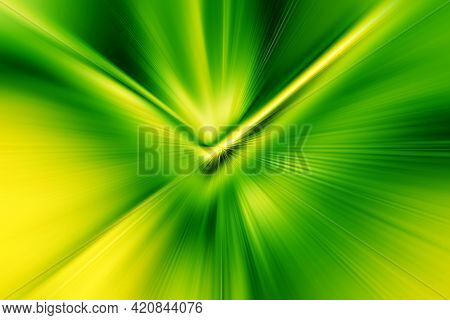 Abstract Radial Zoom Blur Surface   Bright Green And Yellow Tones. Abstract Juicy Green Background W