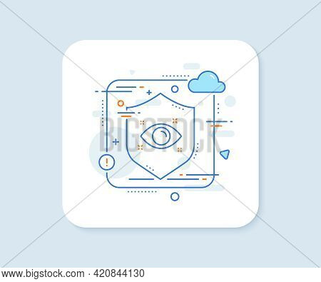 Health Eye Line Icon. Abstract Vector Button. Oculist Clinic Sign. Optometry Vision Symbol. Health E