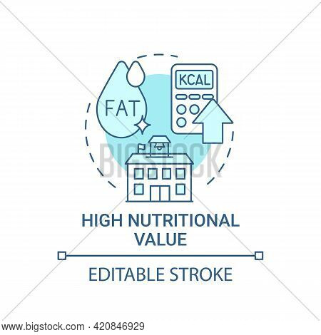 High Nutritional Value Concept Icon. School Healthy Eating Plan. Special Meal Planning Full Of Vitam