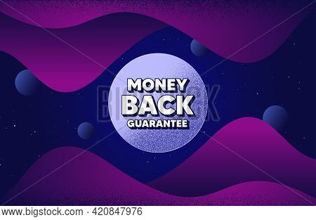Money Back Guarantee. Abstract Background With Dotwork Shapes. Promo Offer Sign. Advertising Promoti