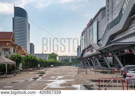 Bangkok, Thailand - 30 Apr 2021, A Place Of Bangkok Tourist Terminal At Showdc Shopping Mall That Cl