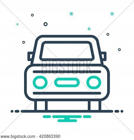 Mix Icon For Auto Vehicle Conveyance Carriage Car