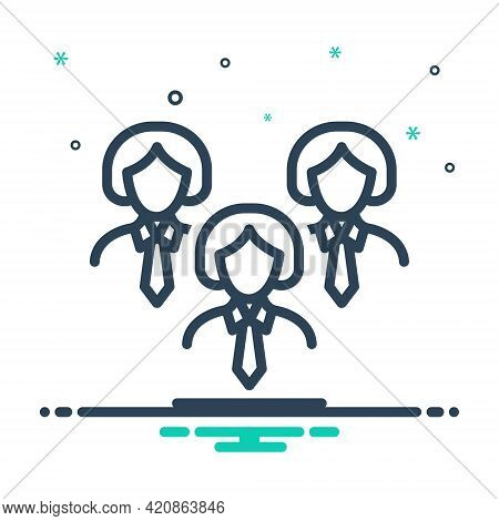 Mix Icon For Leadership Lead Guidance Hegemony  Manager