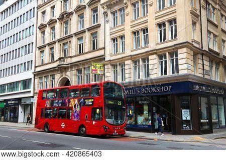 London, Uk - July 6, 2016: People Ride A Doubledecker Bus In Holborn, London, Uk. London Is The Most