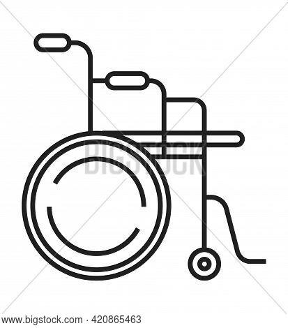 Wheelchair Icon Are Shown.orthopaedic Rehabilitation Icon Vector.