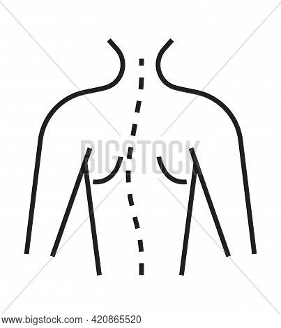 Scoliosis Icon. Orthopaedic Rehabilitation Icon Vector. Physical Therapy Line