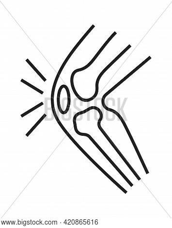 Arthritis, Osteoporosis Knee Icon. Orthopaedic Rehabilitation Help