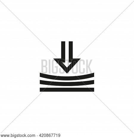 The Icon Of The Elasticity Sign. Simple Vector Illustration On A White Background.