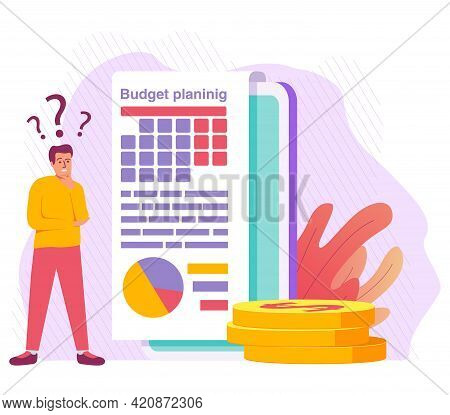 Budget Planing Concept.design For Budget Web Sites Infographic.