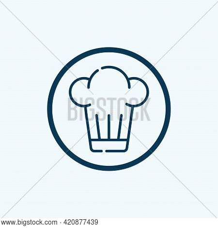Chef Hat Icon Isolated On White Background. Chef Hat Icon Thin Line Outline Linear Chef Hat Symbol F