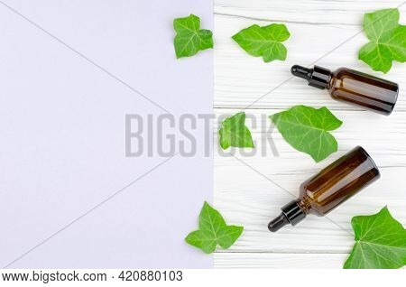 Concept For The Production Of Products From Natural Ingredients And Alternative Medicine. Two Brown