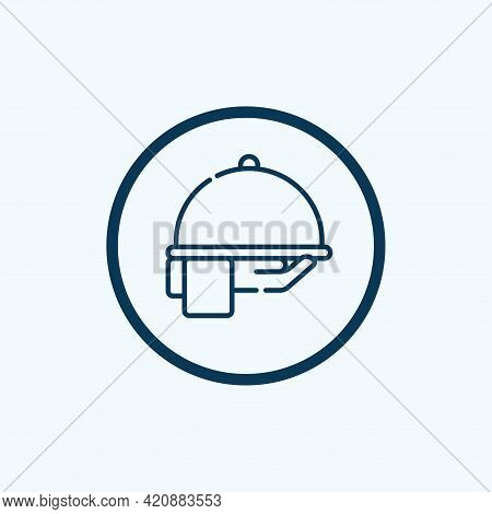 Serving Icon Isolated On White Background From Luxury Collection. Serving Icon Trendy And Modern Ser