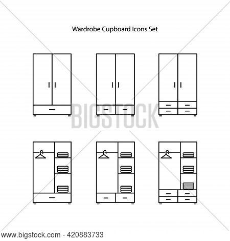 Cupboard Icons Isolated On White Background. Cupboard Icon Trendy And Modern Cupboard Symbol For Log