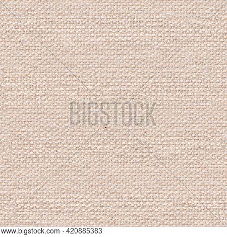 New Coton Canvas Texture In Elegant Light Beige Color For Your Unique Design. Seamless Pattern Backg