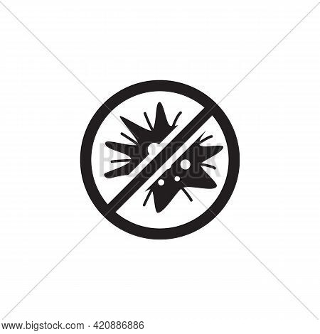 Virus Icon Isolated On White Background From Virus Transmission Collection. Virus Icon Thin Line Out