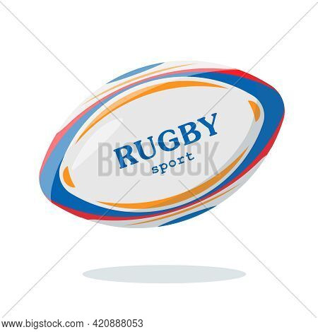 Bright Ball For Rugby Or American Foofball