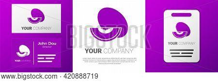 Logotype Melon Fruit Icon Isolated On White Background. Logo Design Template Element. Vector