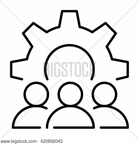Monochrome Organizational Matters Icon Vector Illustration. Collaboration, Teamwork, Partnership