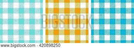 Plaid Shirt Crossed Lines Rustic Seamless Paterns Design. Gingham Tartan