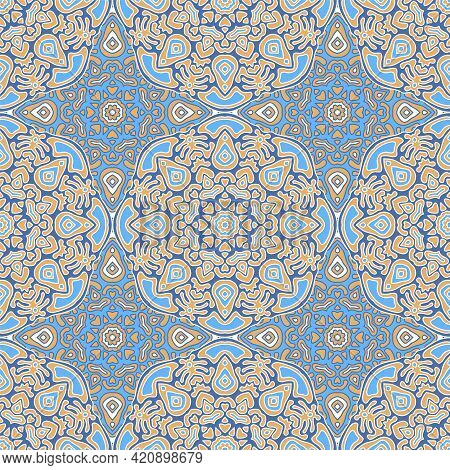 Rustic Linen Fabric Or Tile Geometric Abstract Seamless Pattern