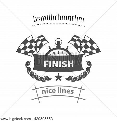 Finish Banner Icon. Finish Vector Icon, Simple Racing Finish Icon