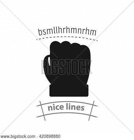 Fist Simple Vector Icon. Fist Isolated Icon
