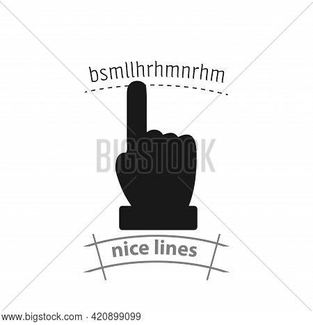 Hand Vector Icon, Forefinger Simple Vector Icon. Hand Pointing Isolated Icon