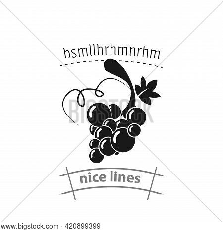 Grapes Simple Vector Icon. Grapes Isolated Icon