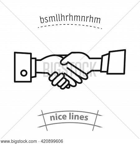 Handshake Simple Vector Icon. Handshake Isolated Icon