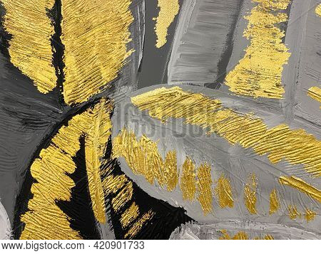 Abstract Gold Background Luxury Rich Vintage Grunge Background Texture Design With Elegant Antique P
