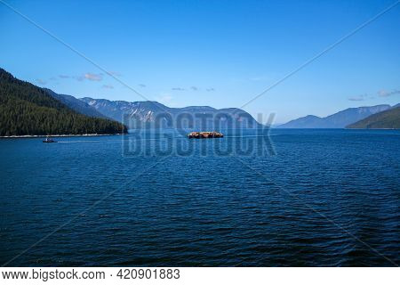 Majestic Landscape In The Inside Passage Between Canada And Alaska, Usa. Travel And Nature Concept.