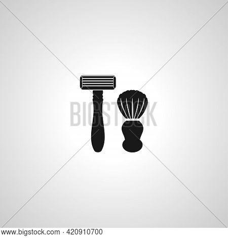 Razor Simple Vector Icon. Shaving Razor Isolated Icon