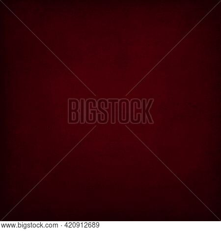 Dark Red Wall Texture Background, Old Grungy Texture. Texture, Wall, Concrete For Backdrop Or Backgr