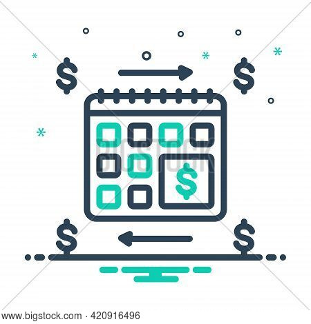 Mix Icon For Annuities Annuity  Financial Revenue Currency Exchange Calender Yearly