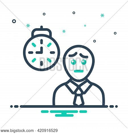 Mix Icon For Waiting Expectation Hope Person Prospect