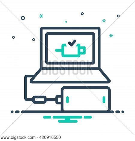 Mix Icon For Connect Add Link Attach Concatenate