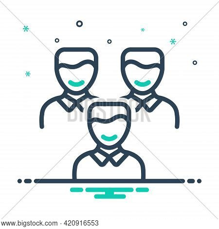 Mix Icon For Clients Customer People Group Subscriber Clientele Purchaser Underwriter