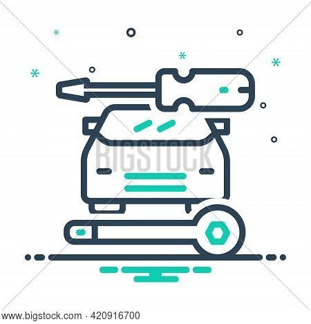 Mix Icon For Auto-repair Auto Repair Workshop Service Technology Vehicle Car Workshop
