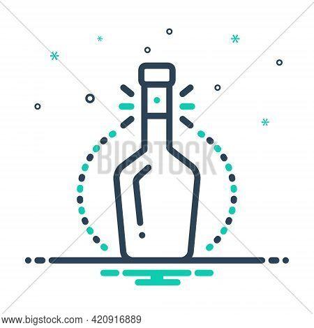 Mix Icon For Bottleneck Spout Alcohol Beverage