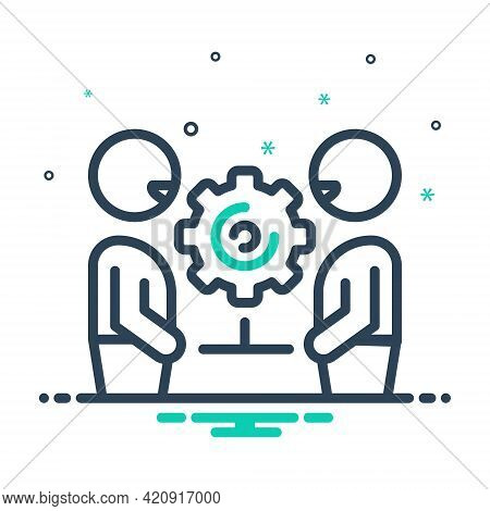 Mix Icon For Collaboration Copartnership Participation Team  Together Cooperation