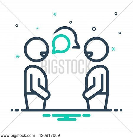 Mix Icon For Conversation Chitchat Gossip Discussion Chat Talking