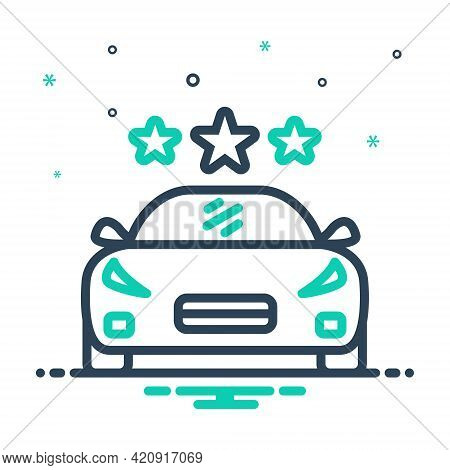 Mix Icon For Vehicle Conveyance Carriage Transportation Car