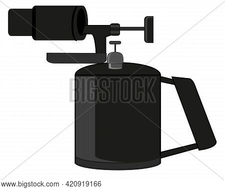 Gasoline Blowtorch On White Background Is Insulated