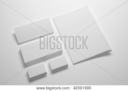 Blank Envelopes Business card and folder