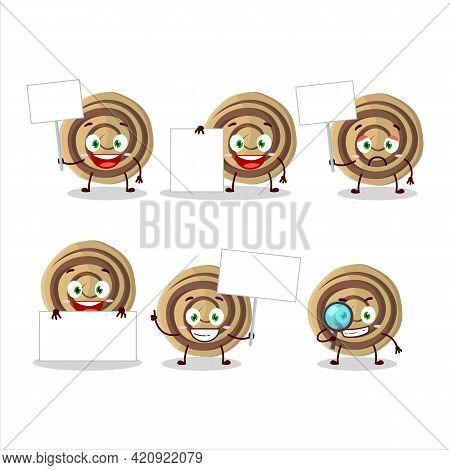 Cookies Spiral Cartoon Character Bring Information Board